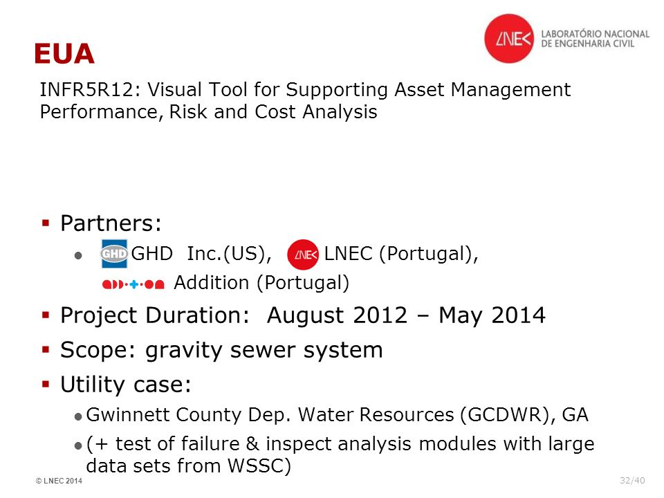 EUA Partners: Project Duration: August 2012 – May 2014