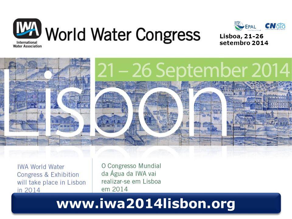 Lisboa, 21-26 setembro 2014 www.iwa2014lisbon.org