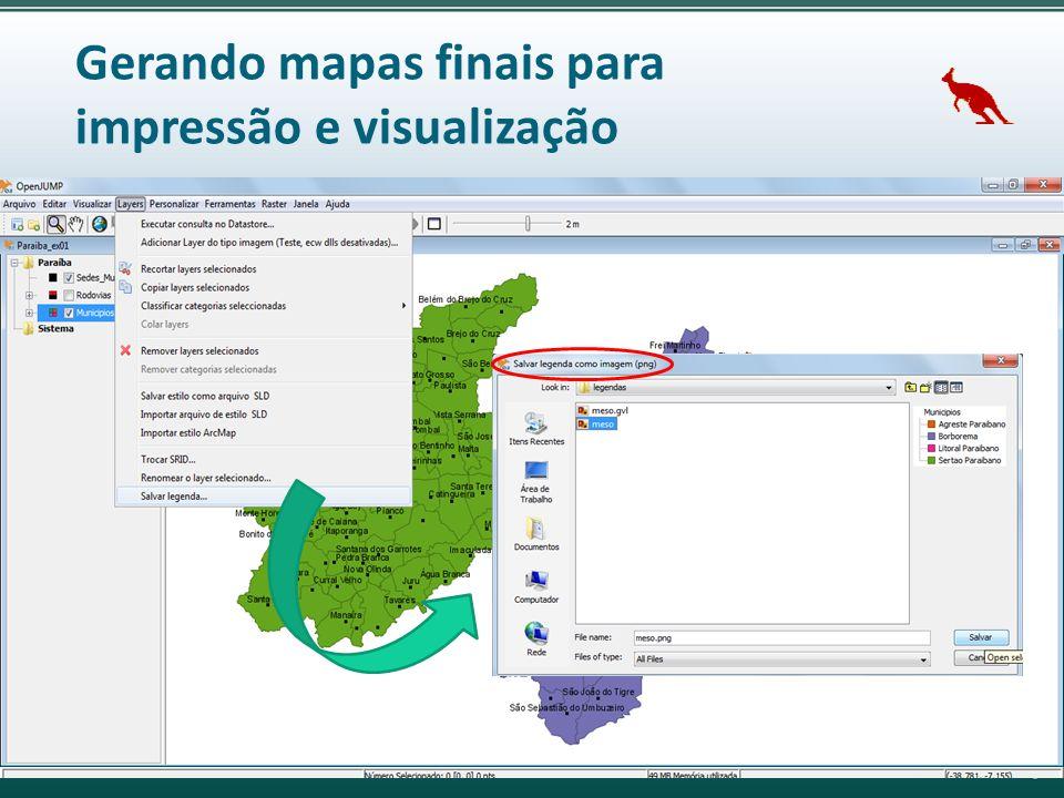 Gerando mapas finais para impressão e visualização