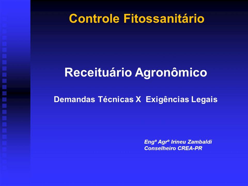 Controle Fitossanitário Receituário Agronômico