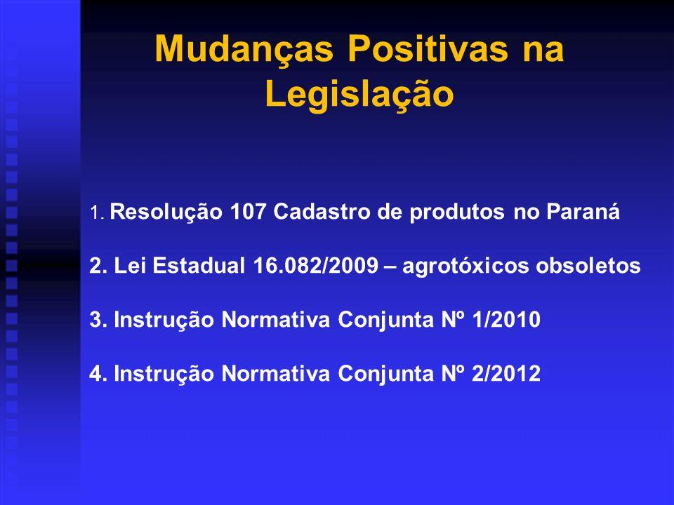 Mudanças Positivas na Legislação