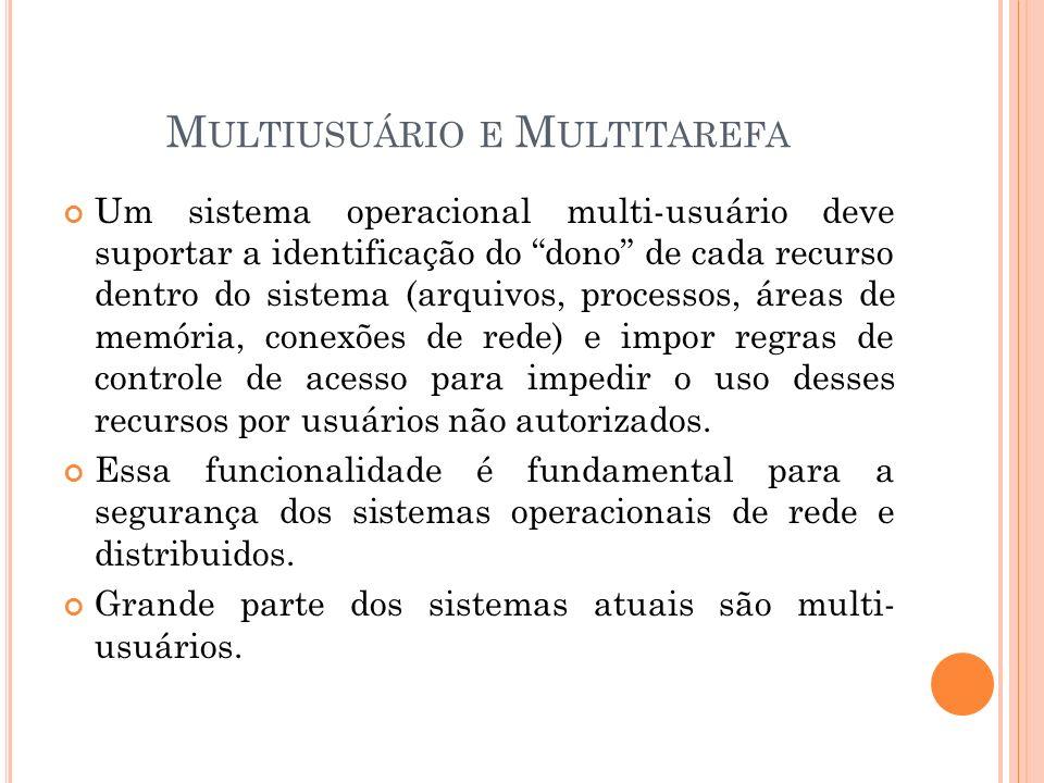 Multiusuário e Multitarefa