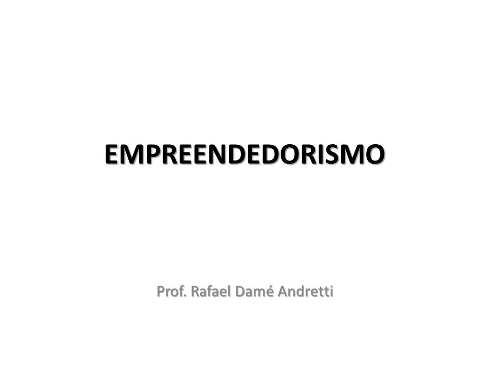 Prof. Rafael Damé Andretti