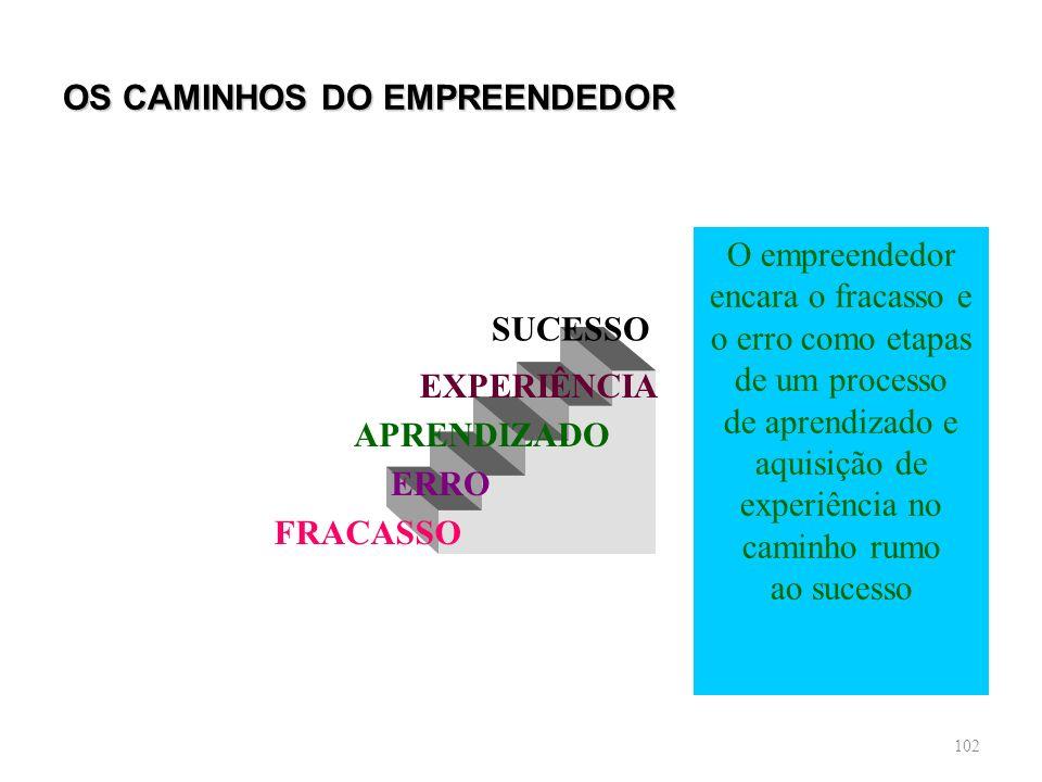 OS CAMINHOS DO EMPREENDEDOR
