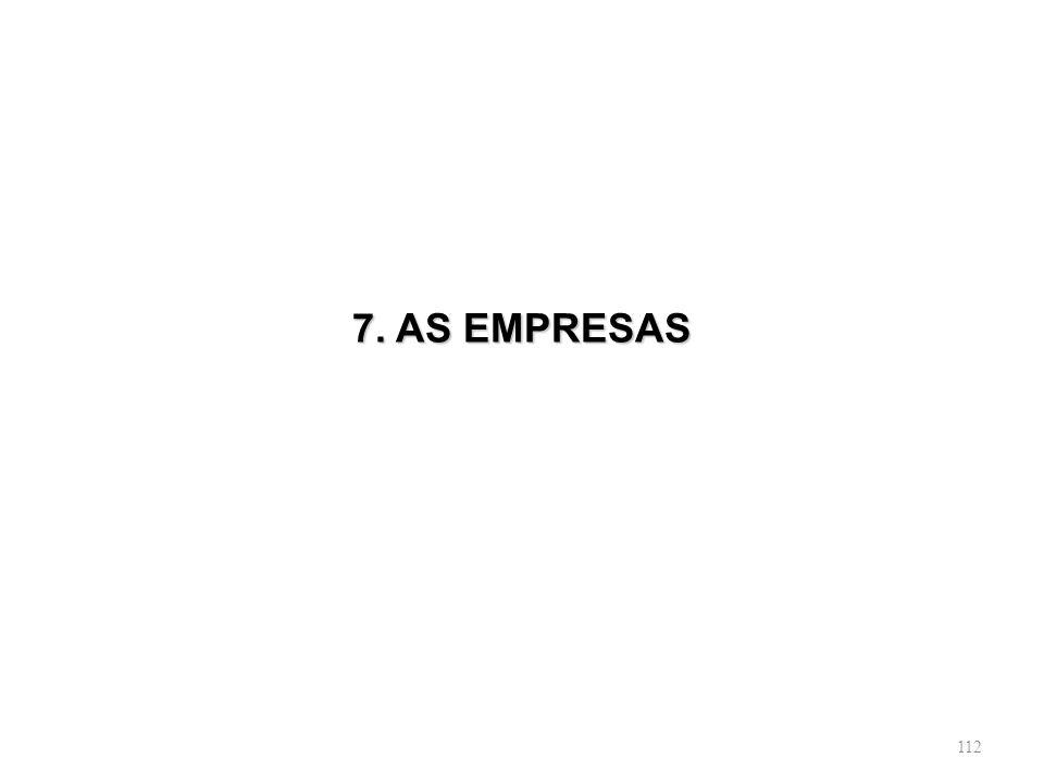 7. AS EMPRESAS
