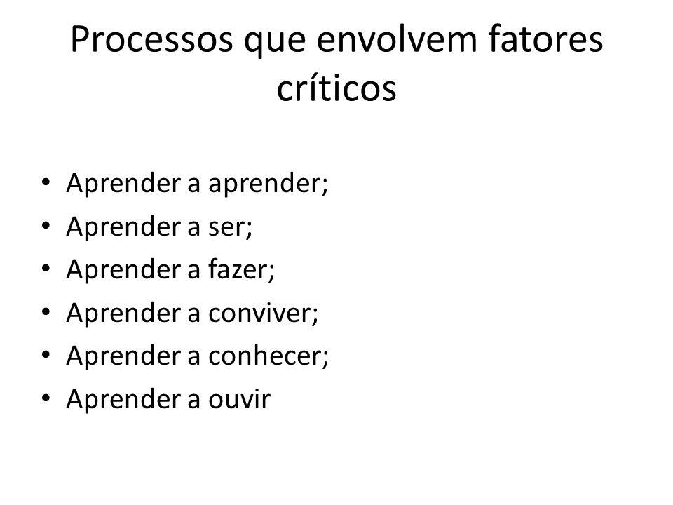 Processos que envolvem fatores críticos
