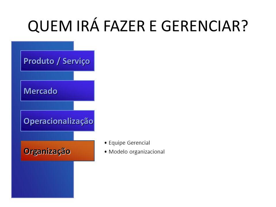 QUEM IRÁ FAZER E GERENCIAR
