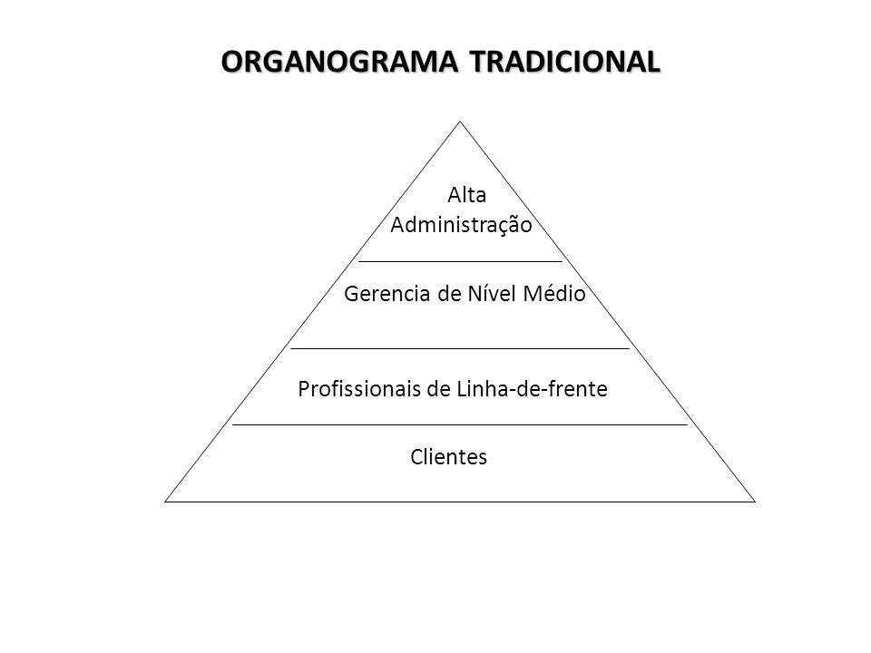 ORGANOGRAMA TRADICIONAL