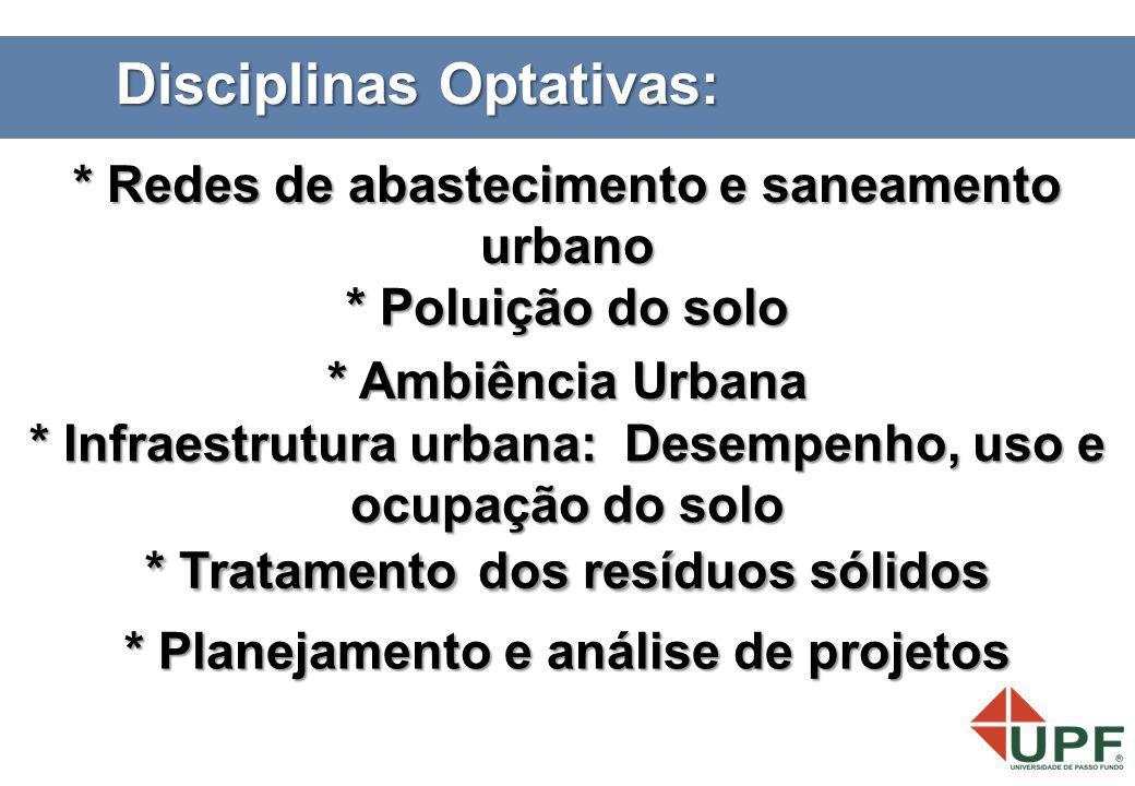 Disciplinas Optativas:
