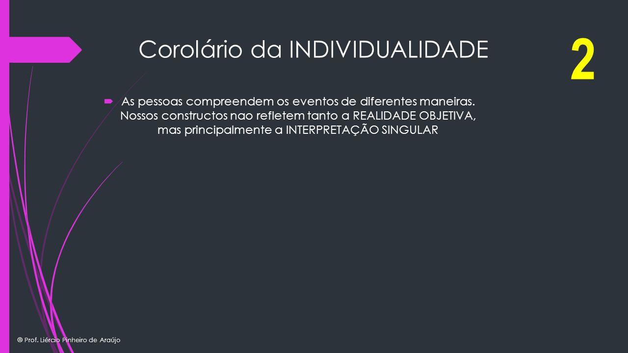 Corolário da INDIVIDUALIDADE