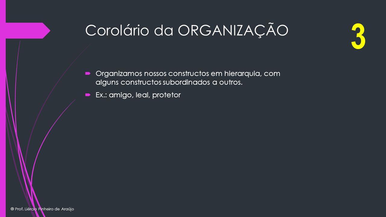 Corolário da ORGANIZAÇÃO