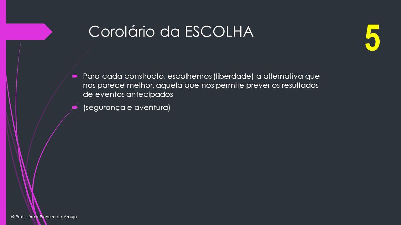 5 Corolário da ESCOLHA.