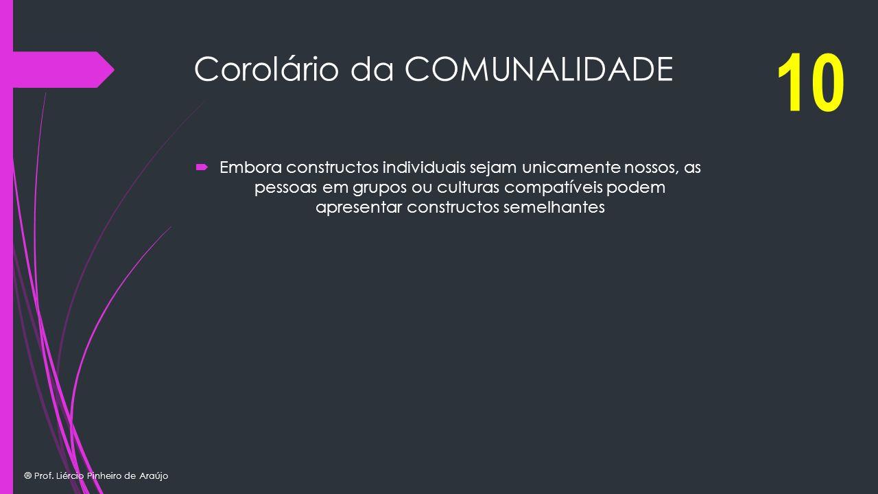 Corolário da COMUNALIDADE