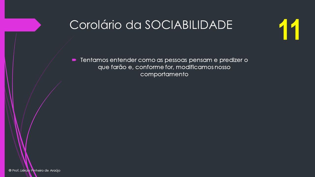 Corolário da SOCIABILIDADE