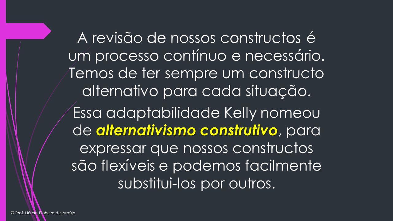 A revisão de nossos constructos é um processo contínuo e necessário