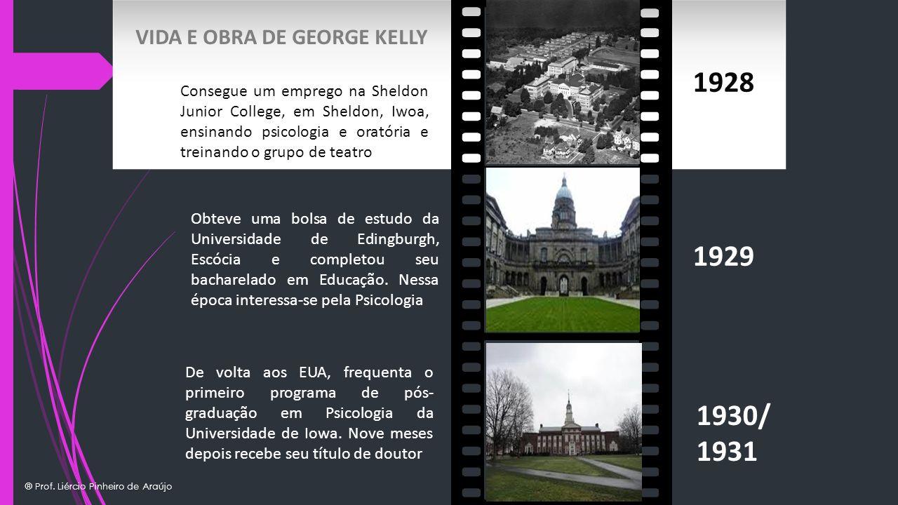 1928 1929 1930/ 1931 VIDA E OBRA DE GEORGE KELLY