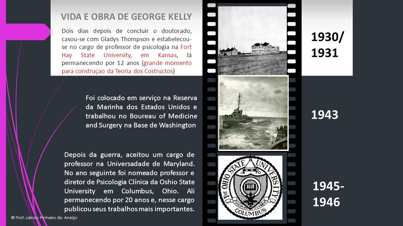 1930/ 1931 1943 1945- 1946 VIDA E OBRA DE GEORGE KELLY