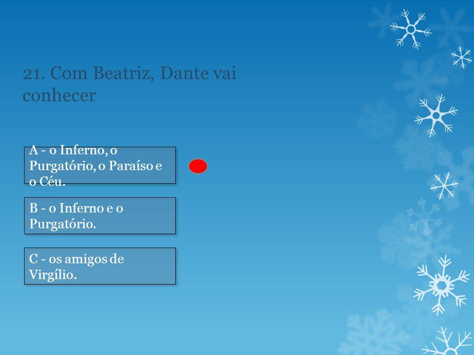 21. Com Beatriz, Dante vai conhecer