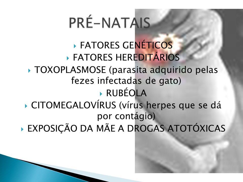 PRÉ-NATAIS FATORES GENÉTICOS FATORES HEREDITÁRIOS