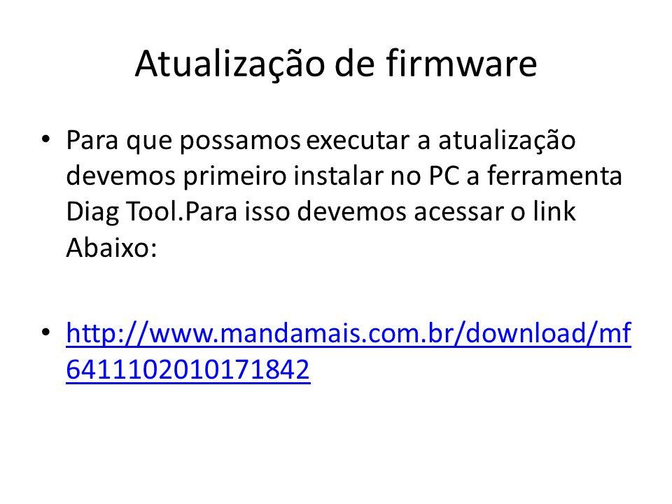 Atualização de firmware