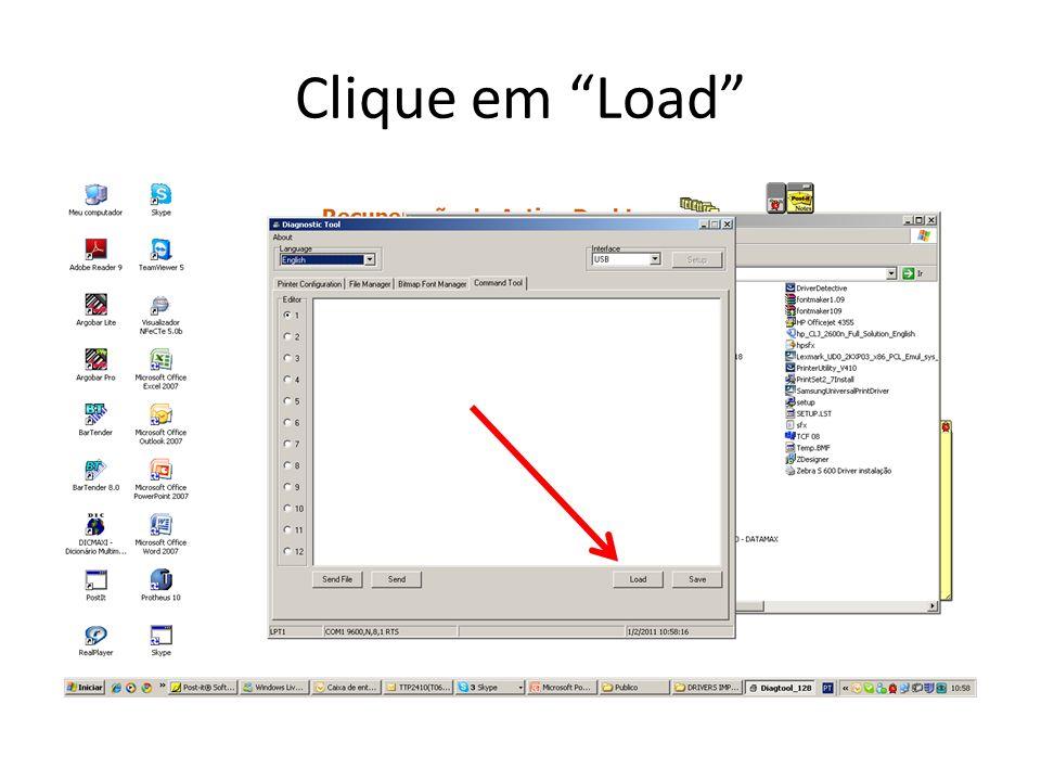 Clique em Load