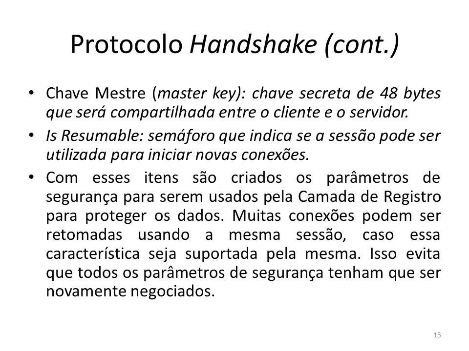 Protocolo Handshake (cont.)