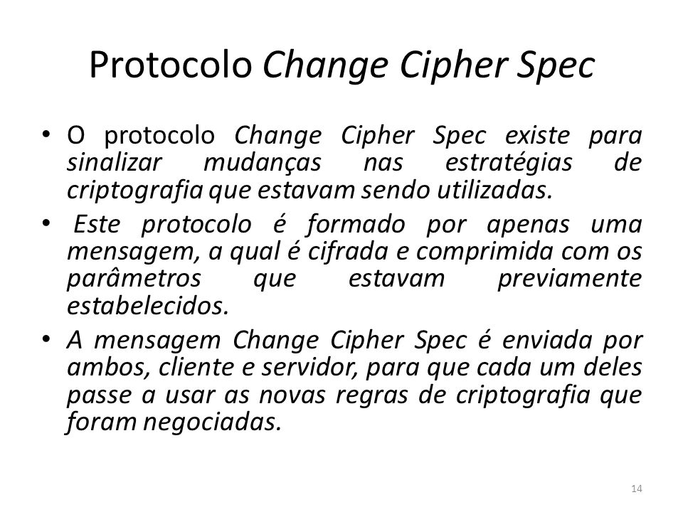 Protocolo Change Cipher Spec