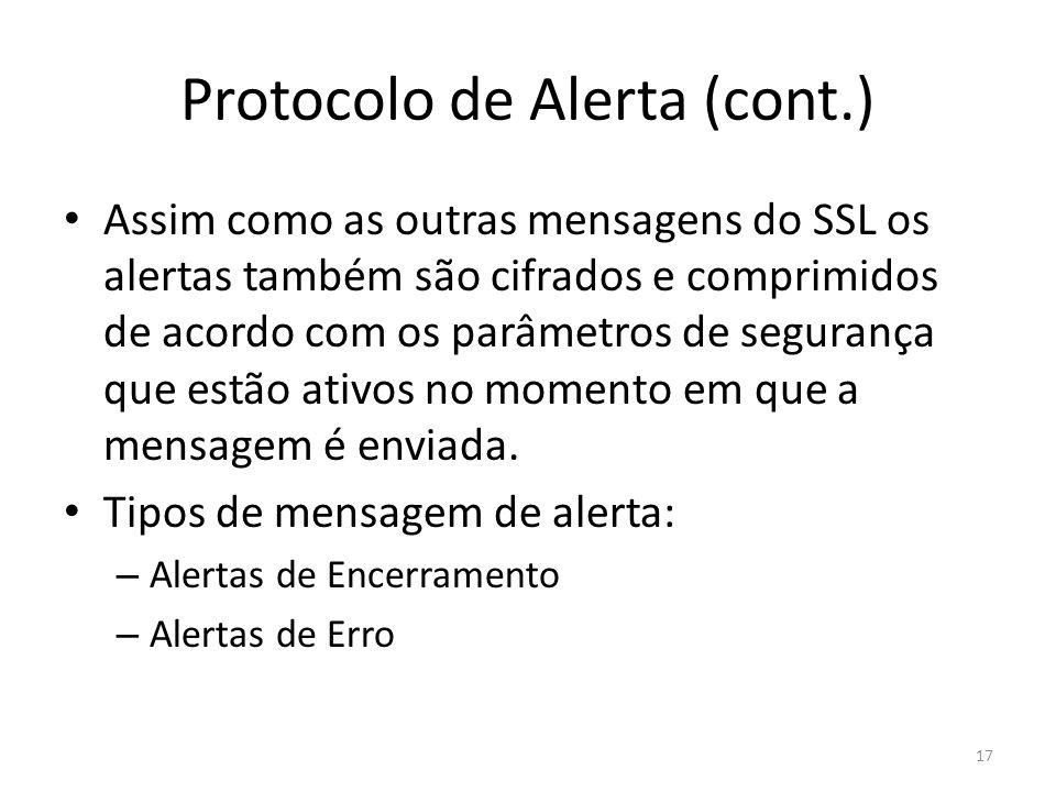 Protocolo de Alerta (cont.)
