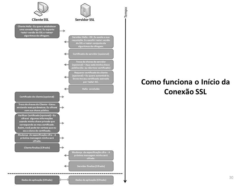 Como funciona o Início da Conexão SSL
