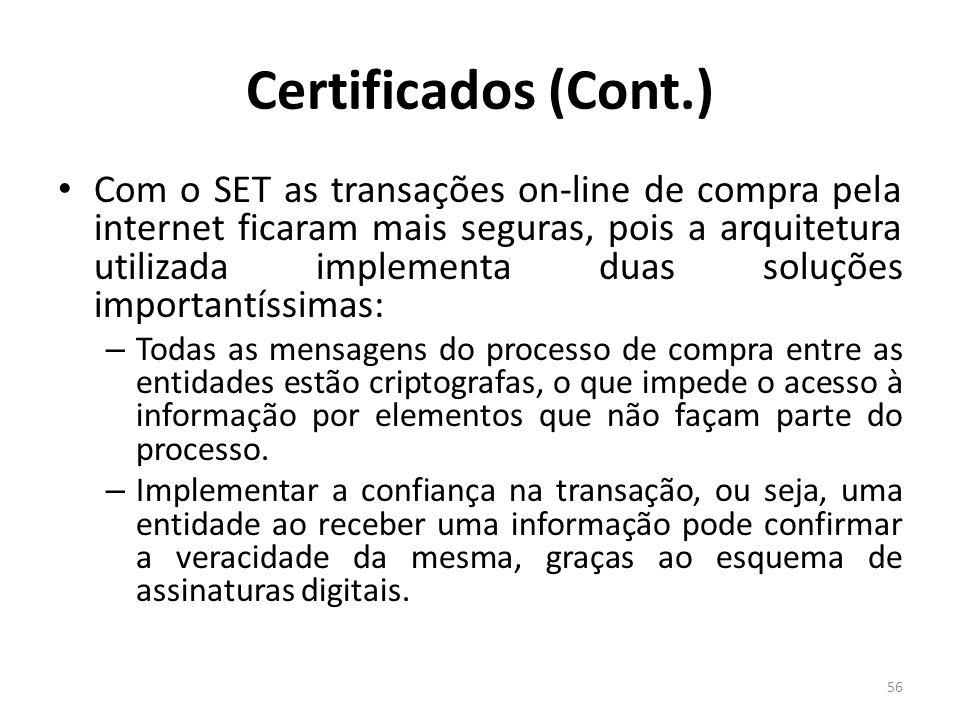 Certificados (Cont.)