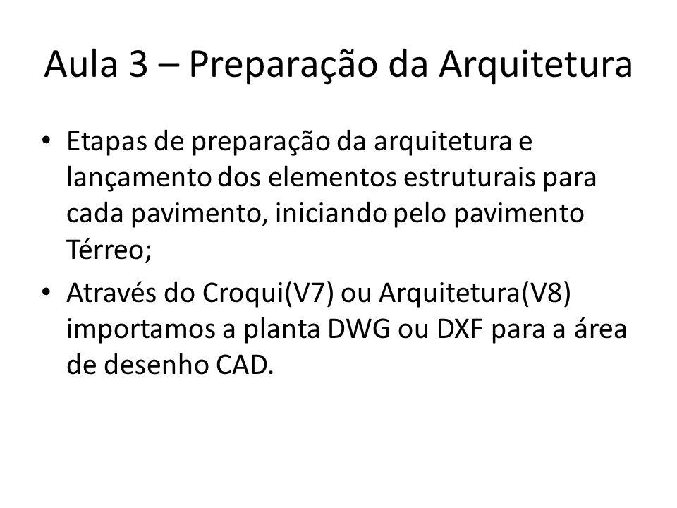 Aula 3 – Preparação da Arquitetura
