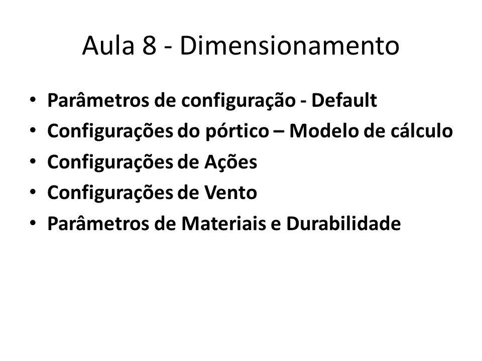 Aula 8 - Dimensionamento