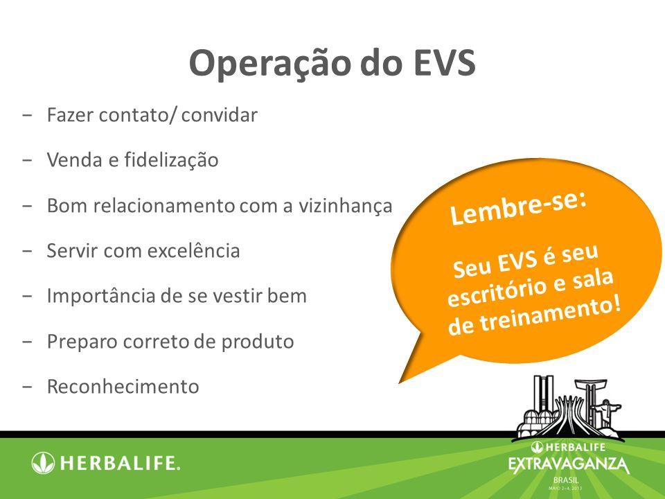Seu EVS é seu escritório e sala de treinamento!
