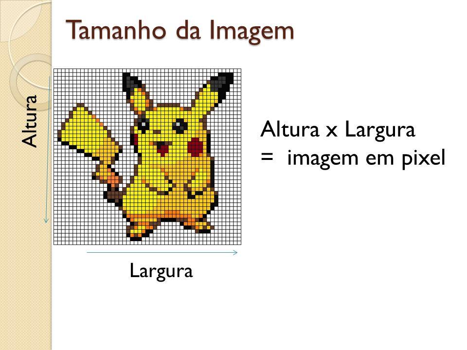 Tamanho da Imagem Altura Altura x Largura = imagem em pixel Largura