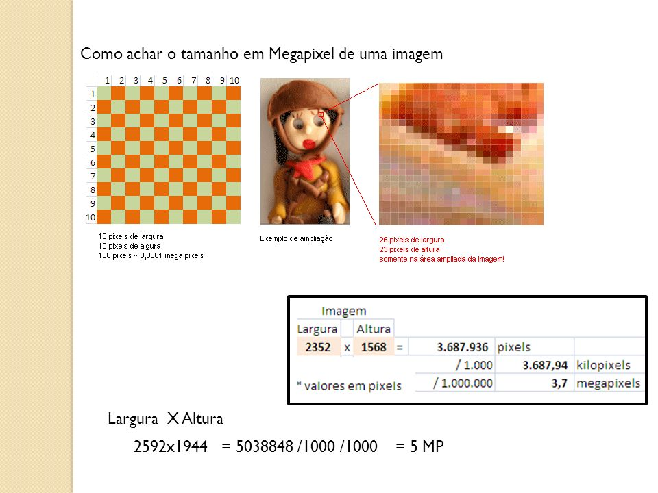 Como achar o tamanho em Megapixel de uma imagem
