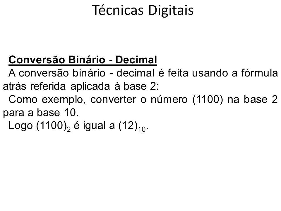 Técnicas Digitais Conversão Binário - Decimal