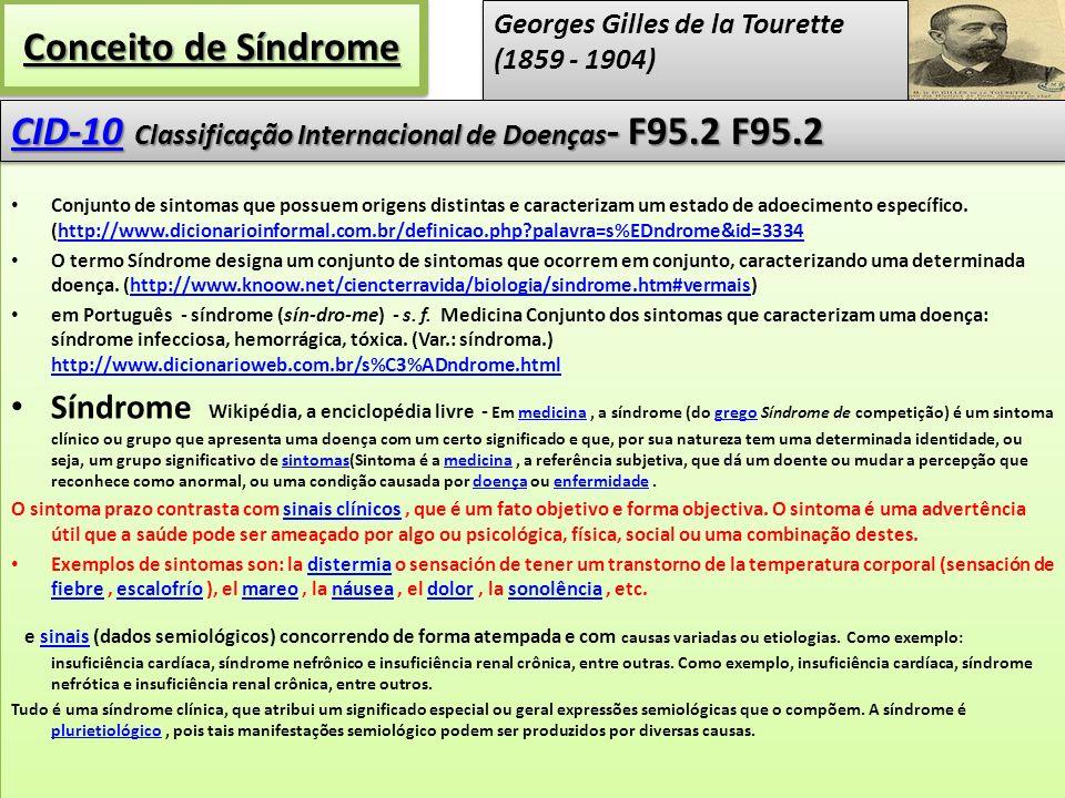 CID-10 Classificação Internacional de Doenças- F95.2 F95.2