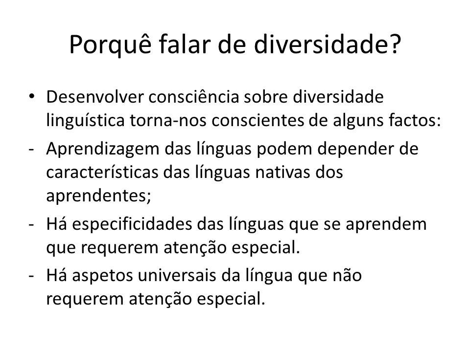 Porquê falar de diversidade