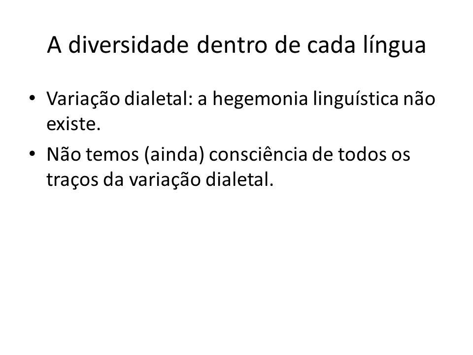 A diversidade dentro de cada língua