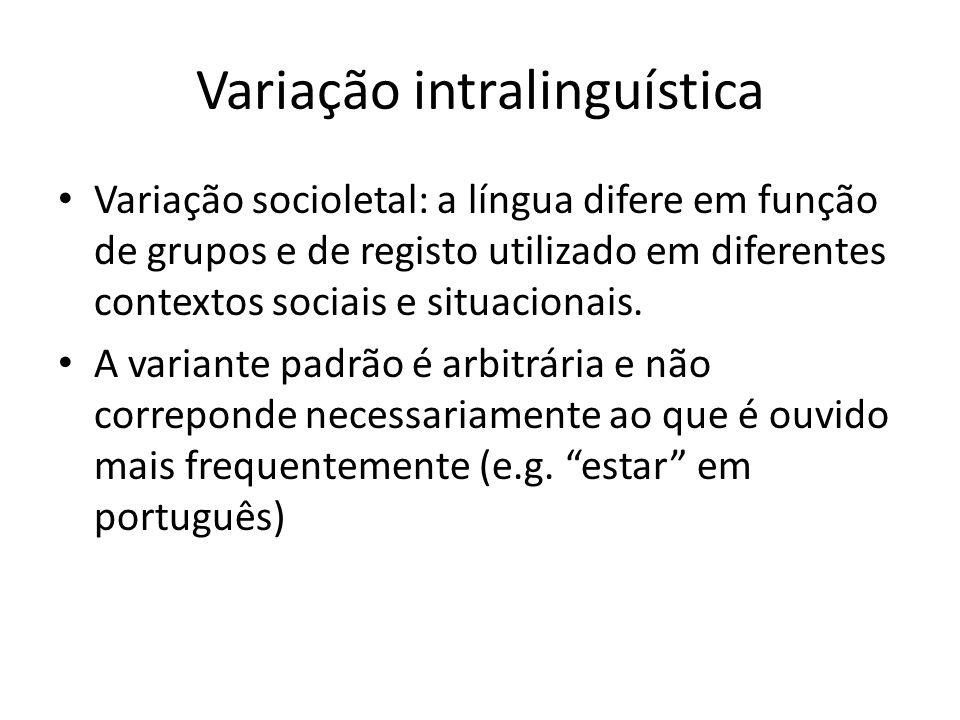 Variação intralinguística