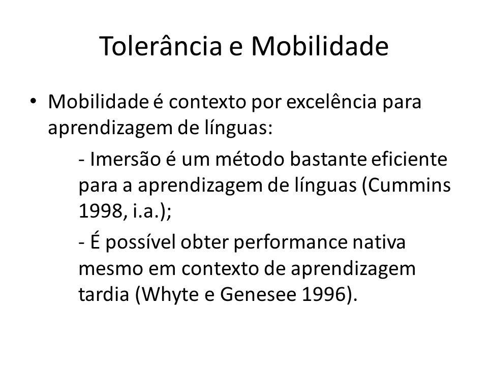 Tolerância e Mobilidade