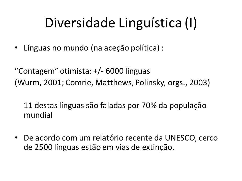 Diversidade Linguística (I)