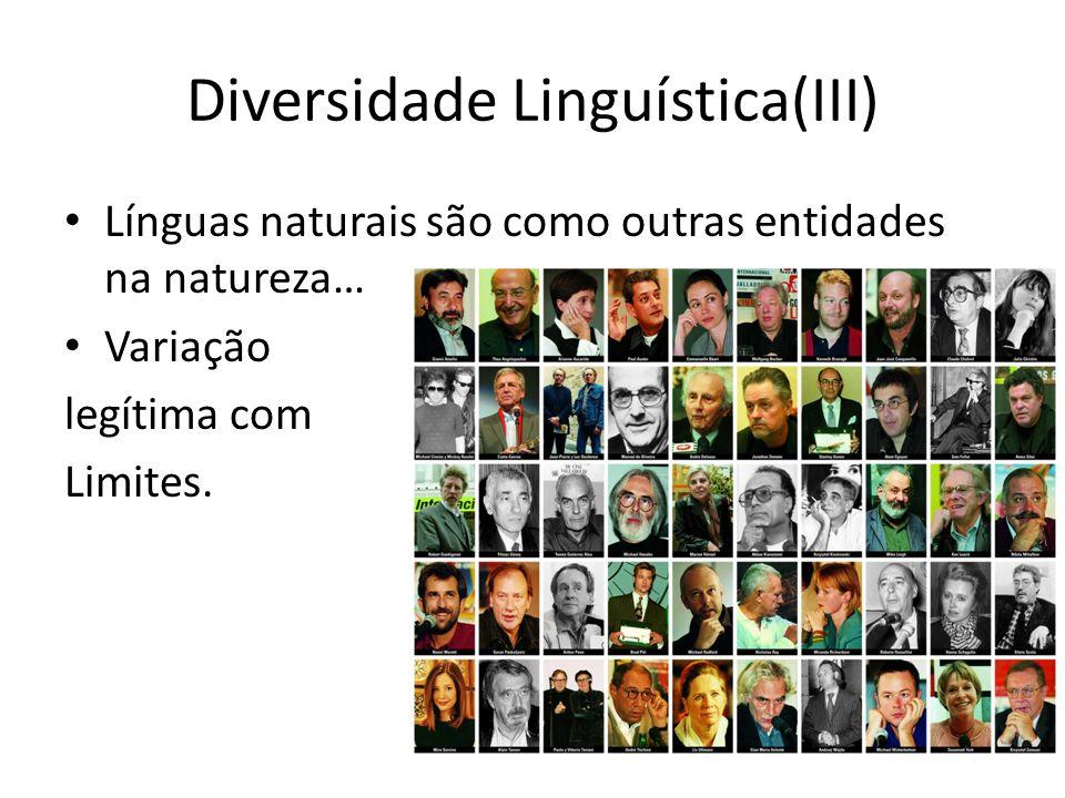 Diversidade Linguística(III)