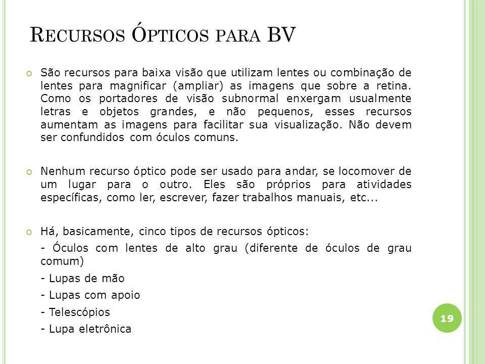 Recursos Ópticos para BV