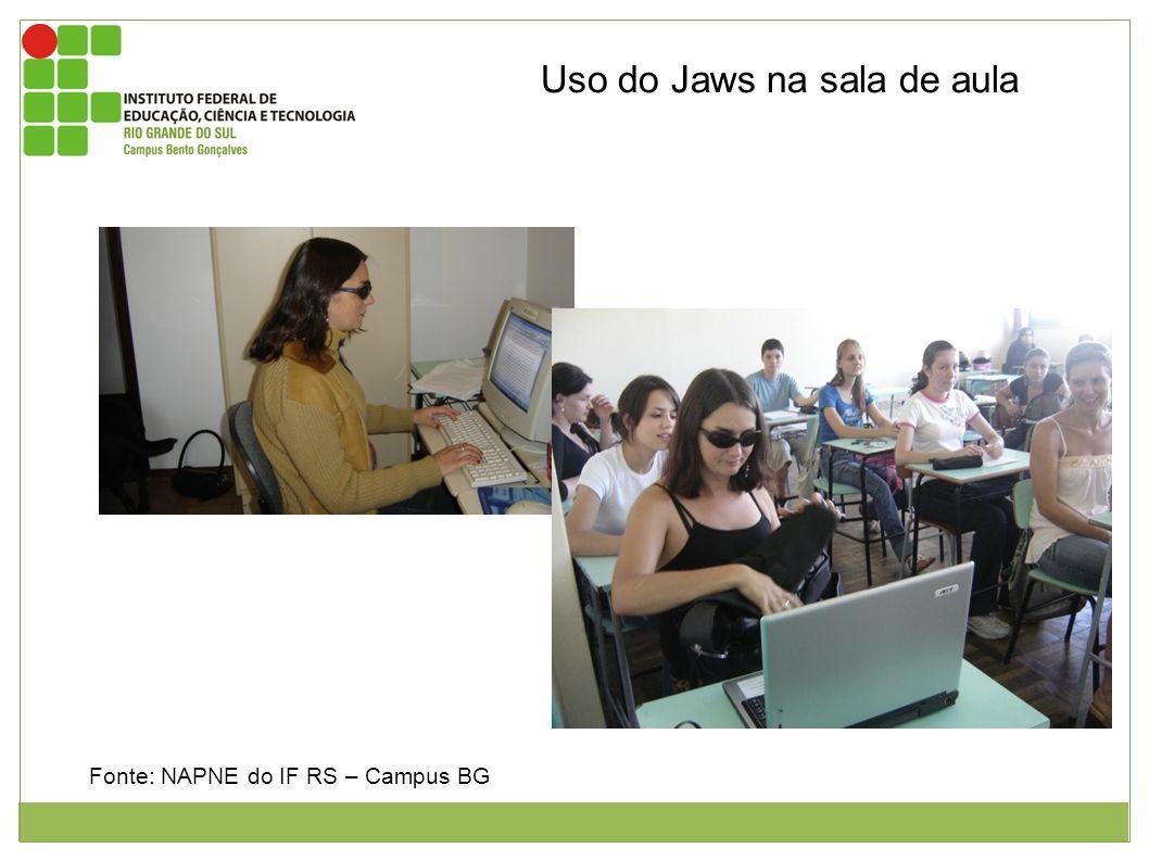 Leitores de Telas para Linux e Mac OS Uso do Jaws na sala de aula
