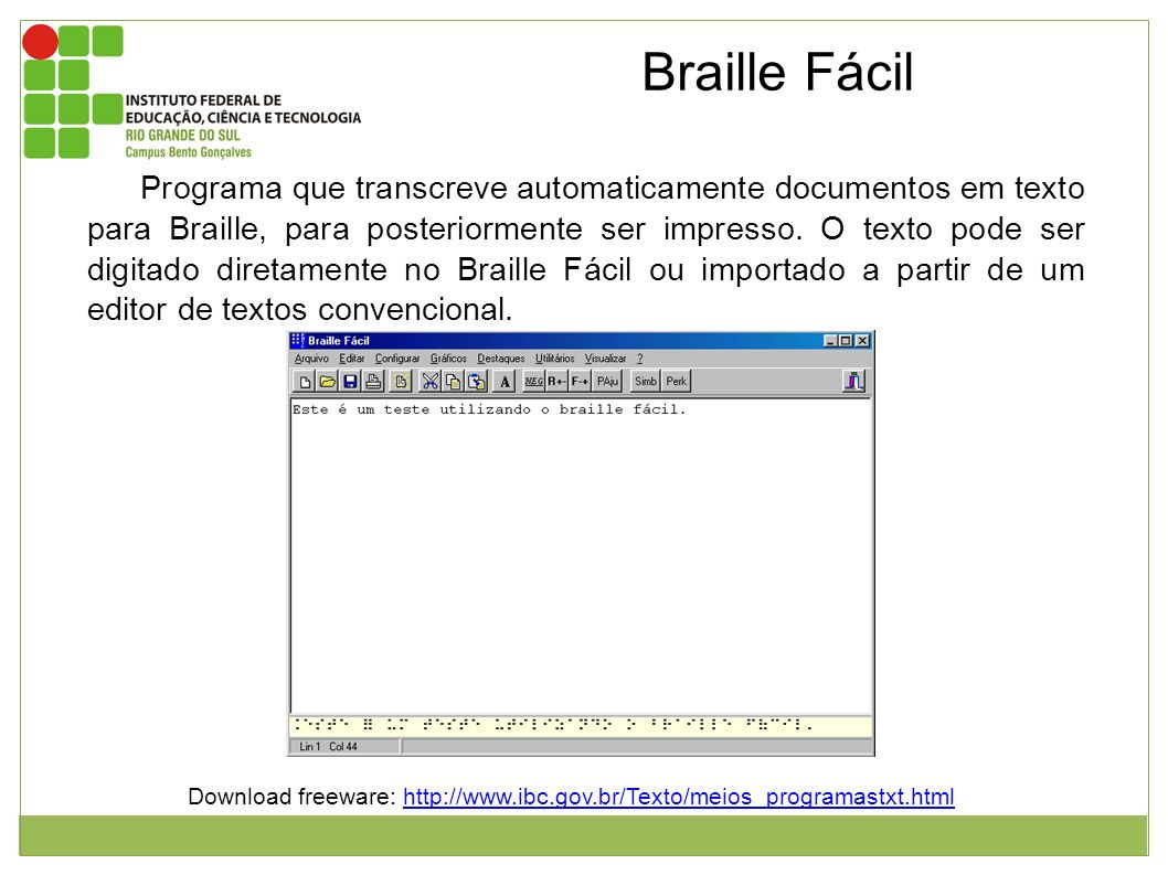 Download freeware: http://www.ibc.gov.br/Texto/meios_programastxt.html