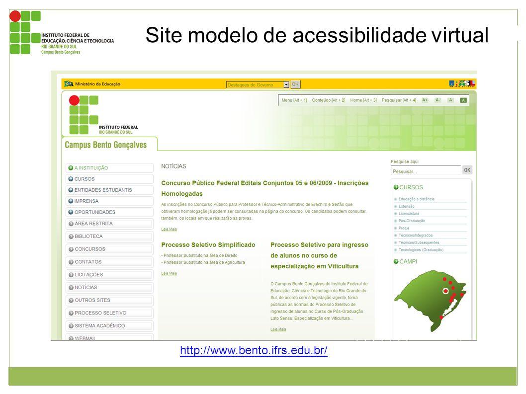 Site modelo de acessibilidade virtual