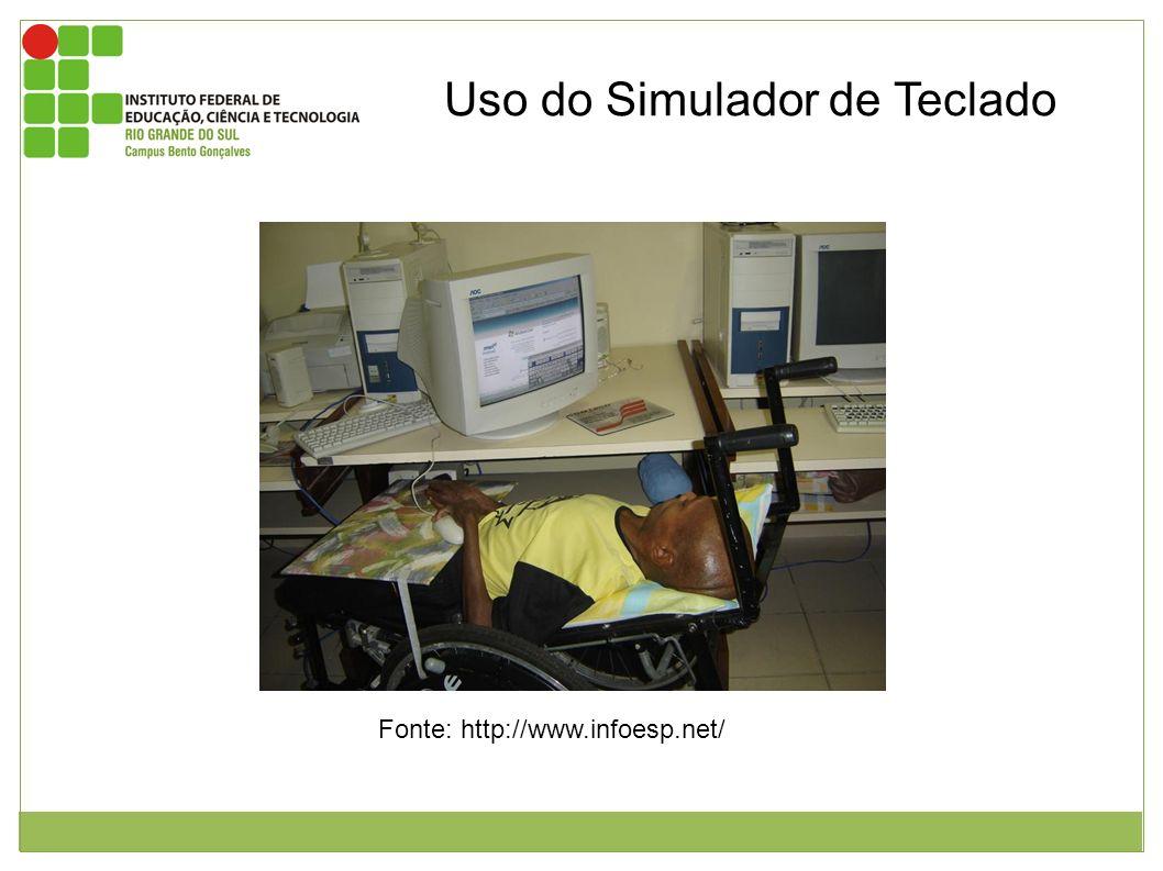 Uso do Simulador de Teclado