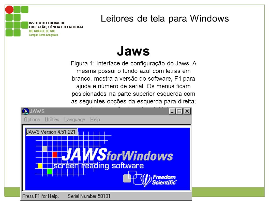 Jaws Leitores de tela para Windows