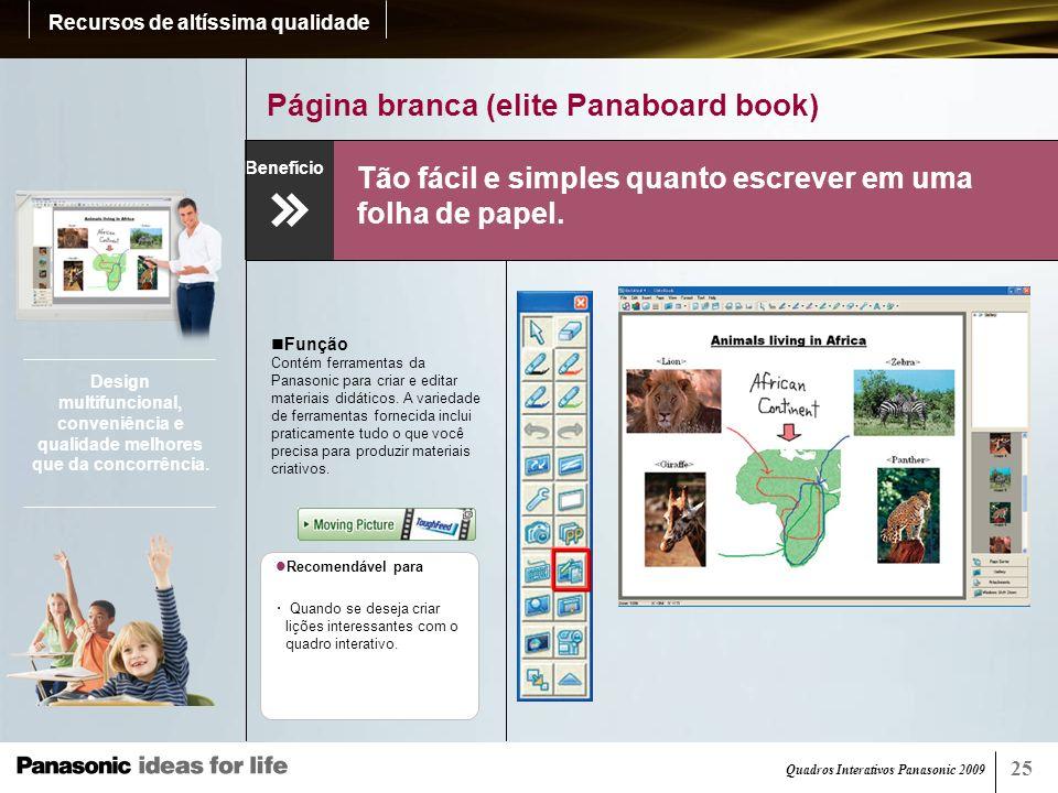 Página branca (elite Panaboard book)